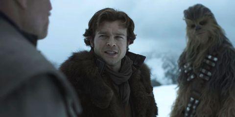 solo a star wars movie, trailer, han solo, chewbacca, alden enrenreich
