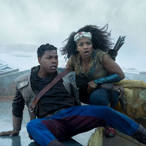 star wars the rise of skywalker, john boyega and naomi ackie as finn and jannah