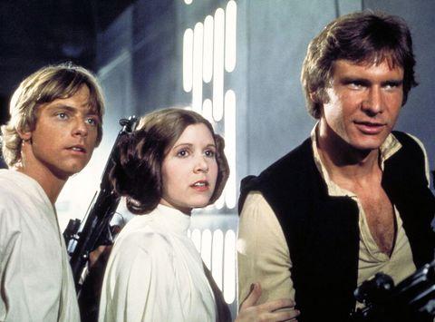 luke skywalker princess leia han solo star wars a new hope