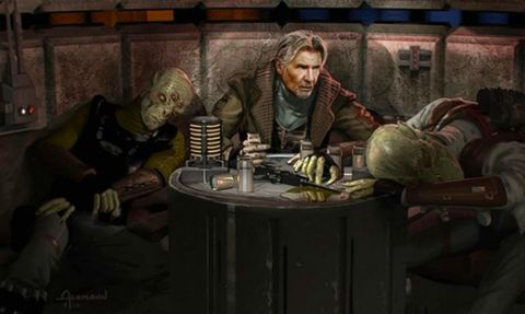 han solo star wars the force awakens original concept art