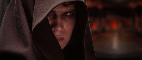 anakin skywalker dark side cloak red eyes star wars revenge of the sith