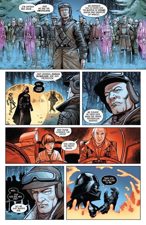 ric olie in darth vader comic book