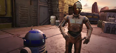 star wars tales from the galaxy's edge c 3po and r2 d2