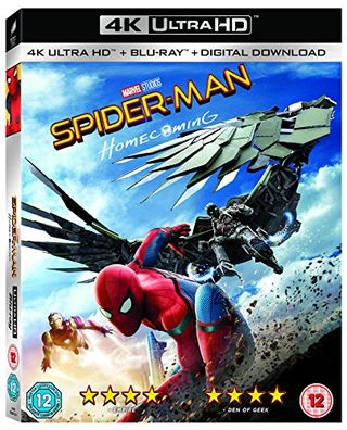 Spider-Man Homecoming [4K UHD + Blu-ray] [2017] [Region Free]