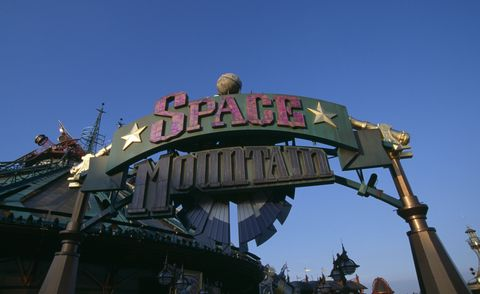 disneyland's space mountain