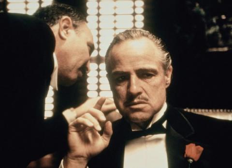 marlon brando and salvatore corsitto in the godfather 1972