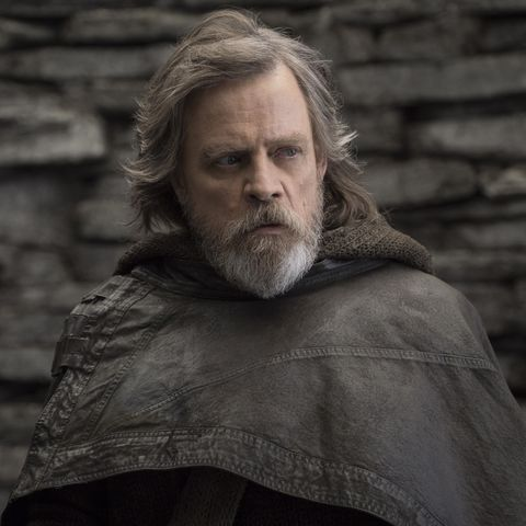 mark hamill as luke skywalker in star wars the last jedi