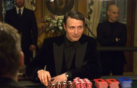before he was hannibal, mads mikkelsen provided a truly unsettling opponent for daniel craig's blunt instrument his lithe, deadly le chiffre is a world away from fleming's bloated monster, but the scene in which he tortures bond is equally effective both on page and screen and his eyebleeds