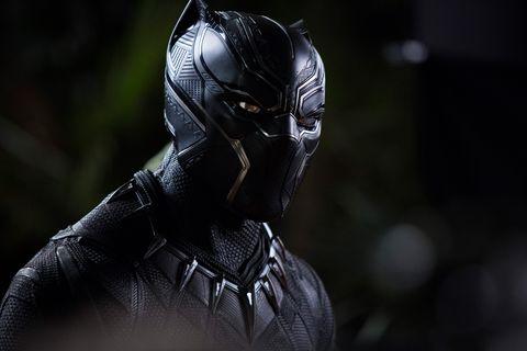 chadwick boseman as t'challa black panther