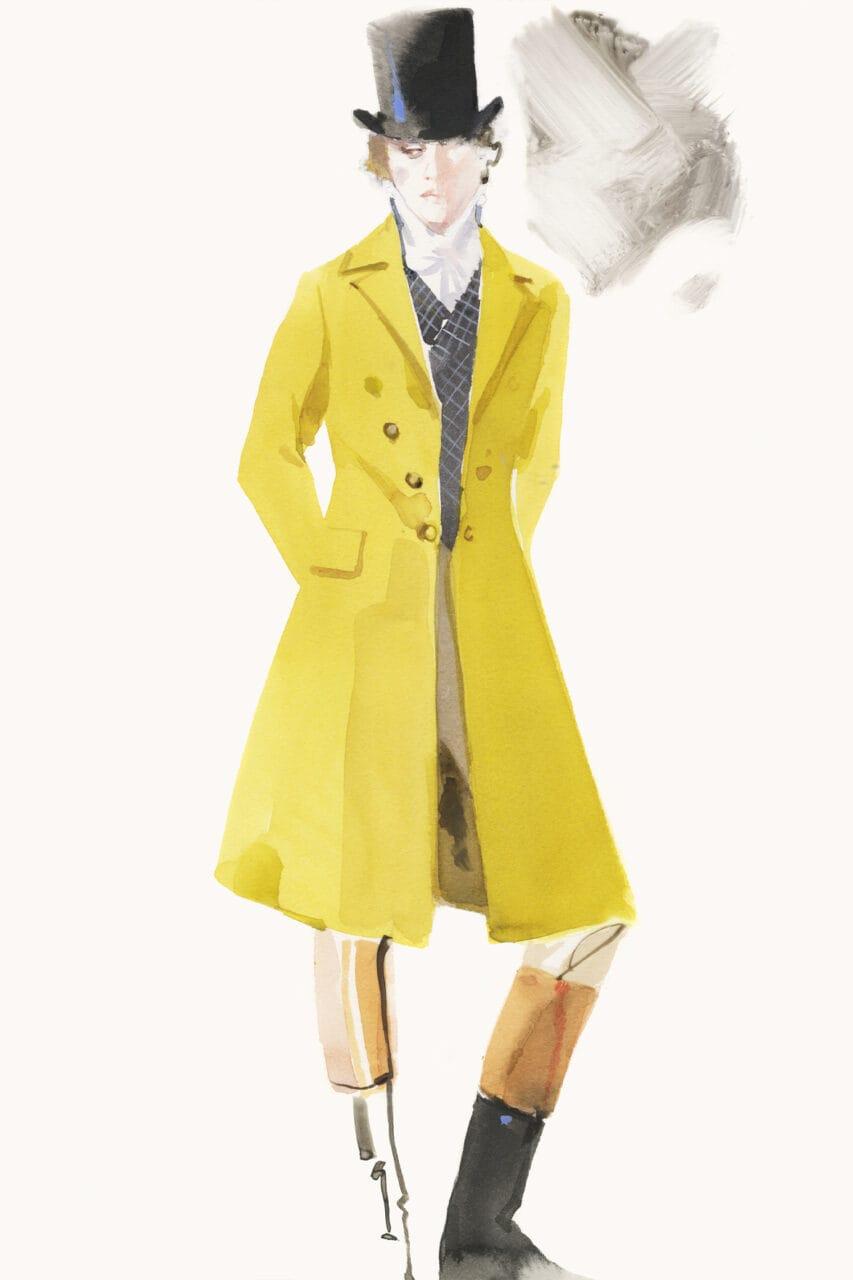 Emma movie costume sketch
